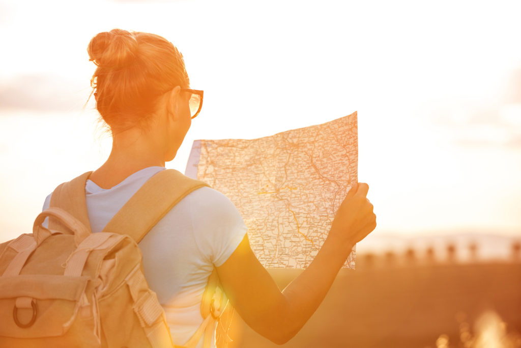 Woman traveling solo