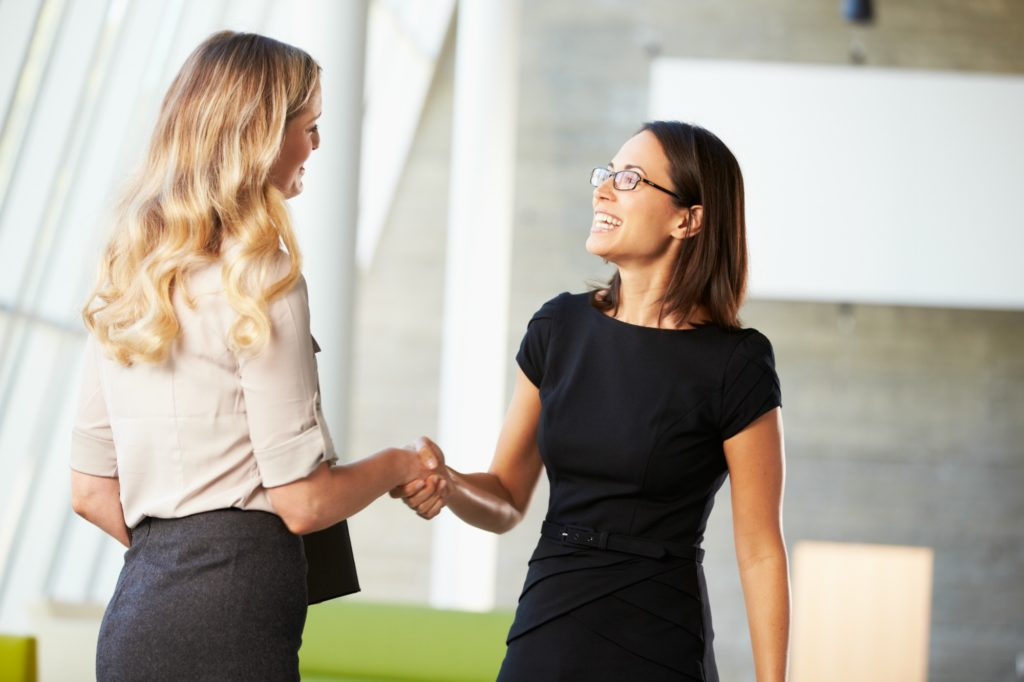 Two women negotiate salary