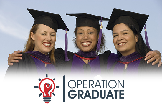 operation graduate graphic